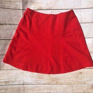 Ann Taylor Loft Seamed Ponte Flippy Skirt Sz 6